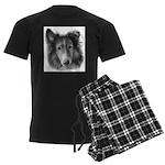 Rough Collie Men's Dark Pajamas