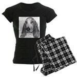 Basset Hound Women's Dark Pajamas