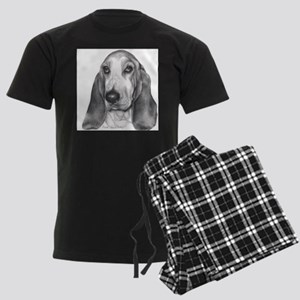 Basset Hound Men's Dark Pajamas