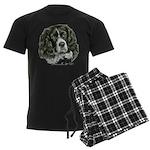 Cocker Spaniel (Parti-color) Men's Dark Pajamas