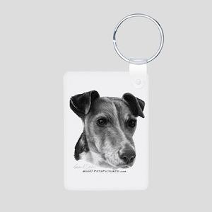 Smooth Fox Terrier Aluminum Photo Keychain