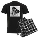 Jack (Parson) Russell Terrier Men's Dark Pajamas