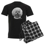 Bichon Frisé Men's Dark Pajamas