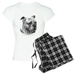 English Bulldog Women's Light Pajamas