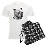 English Bulldog Men's Light Pajamas