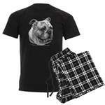 English Bulldog Men's Dark Pajamas