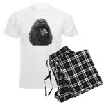 Black or Chocolate Poodle Men's Light Pajamas