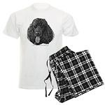 Shadow, Standard Poodle Men's Light Pajamas