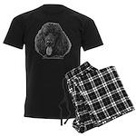 Shadow, Standard Poodle Men's Dark Pajamas