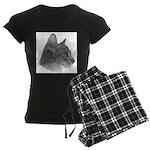 Abysinnian Cat Women's Dark Pajamas