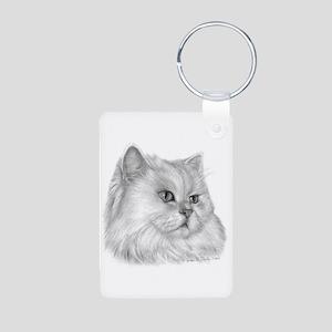 Persian Cat Aluminum Photo Keychain