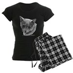 Russian Blue Cat Women's Dark Pajamas