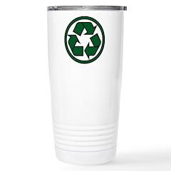 Recycle Symbol Stainless Steel Travel Mug
