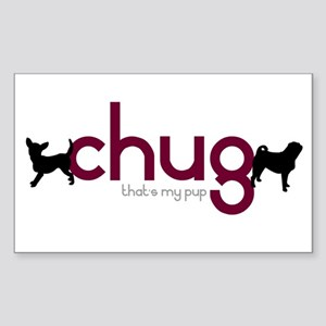 Chihuahua/Pug Rectangle Sticker