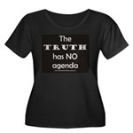 TRUTH Women's Plus Size Scoop Neck Dark T-Shirt