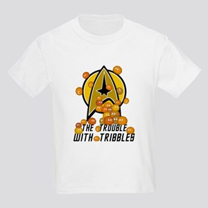 Trouble With Tribbles Kids Light T-Shirt