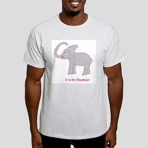 E Is for Elephant Light T-Shirt
