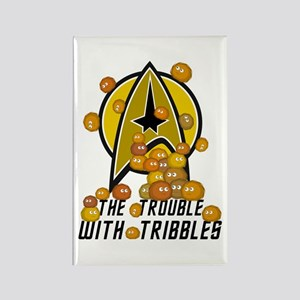 Trouble With Tribbles Rectangle Magnet