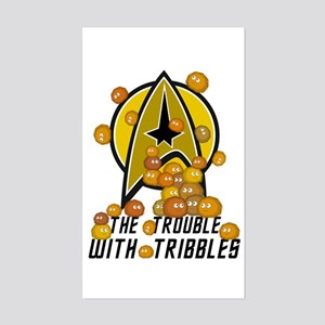 Trouble With Tribbles Sticker (Rectangle)