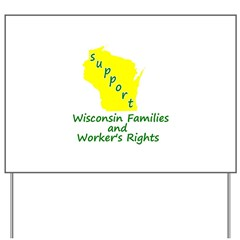Support Green/Yellow Yard Sign