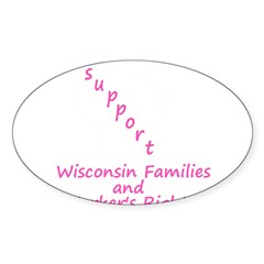 Support - Pink Sticker (Oval 50 pk)
