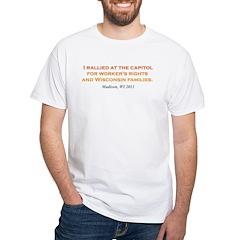 Rallied Orange White T-Shirt