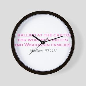Rallied Pink Wall Clock
