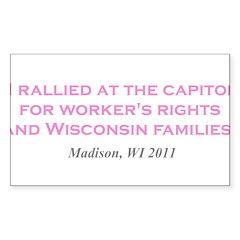 Rallied Pink Sticker (Rectangle 50 pk)