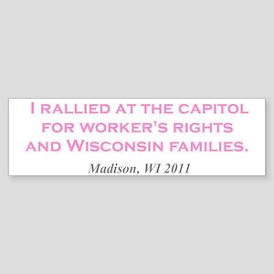 Rallied Pink Sticker (Bumper)