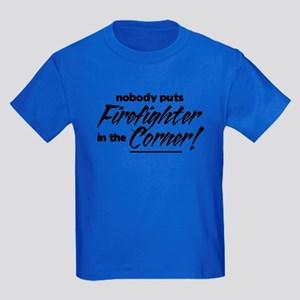 Firefighter Nobody Corner Kids Dark T-Shirt