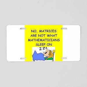 funny math joke Aluminum License Plate