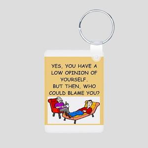 funny psychology joke Aluminum Photo Keychain