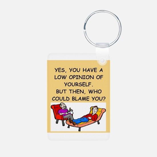 funny psychology joke Keychains