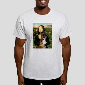Mona & her Brindle Boxer Ash Grey T-Shirt
