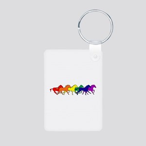 Horses Running Wild Aluminum Photo Keychain