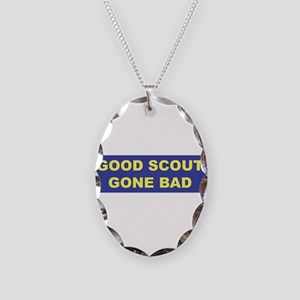 Good Scout Gone Bad (Blue) Necklace Oval Charm