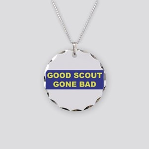 Good Scout Gone Bad (Blue) Necklace Circle Charm