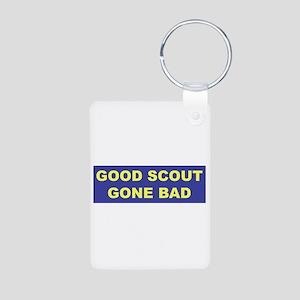 Good Scout Gone Bad (Blue) Aluminum Photo Keychain