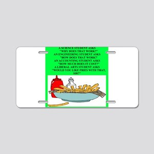 funny geek & professor Aluminum License Plate