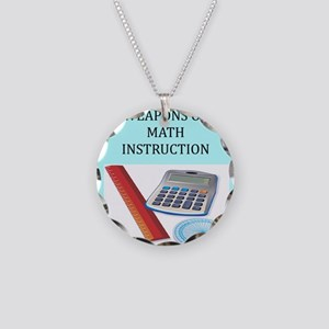 math joke t-shirts gifts Necklace Circle Charm