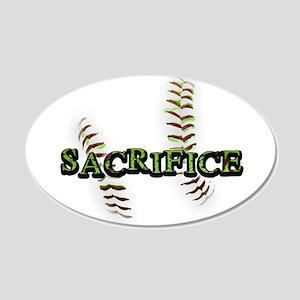 Sacrifice Fastpitch Softball 22x14 Oval Wall Peel