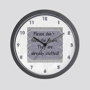 textured look-DONT FEED THE BEARS WALL CLOCK