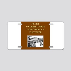 philosopher philosophy Aluminum License Plate
