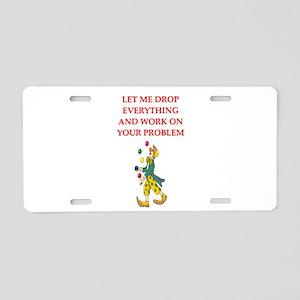 PROBLEMS Aluminum License Plate