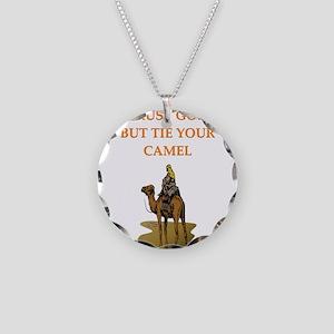 trust god Necklace Circle Charm