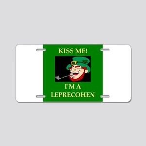 st. patrick's day gifts Aluminum License Plate