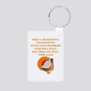 thanksgiving jokes Aluminum Photo Keychain