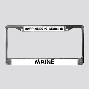 Happiness is Maine License Plate Frame