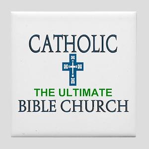 Catholic Bible Church Tile Coaster