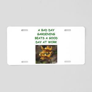 gardening joke Aluminum License Plate